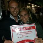 Ruud Leeuw en Kirsten met geveild VIP arrangement FC Twente